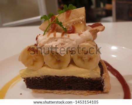 Banana Chocolate Sheet Cake pic