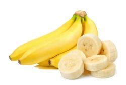 Banana isolated on the white background .