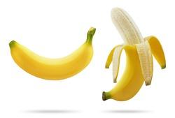 Banana isolated on white background.