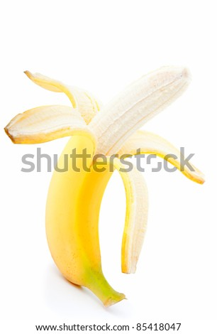 banana on a white background