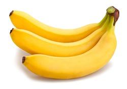 banana path isolated on white