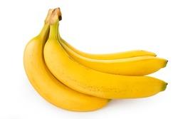 Banana, side angle banana on a white background (Tr- Muz)