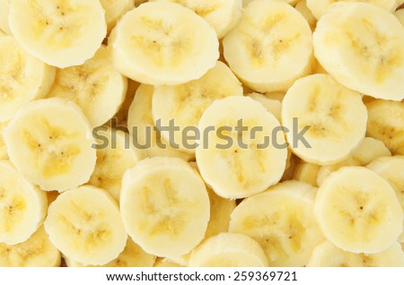 Banana slices background