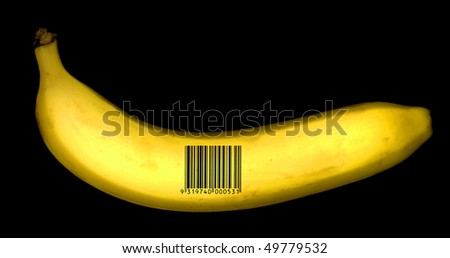 banana with barcode