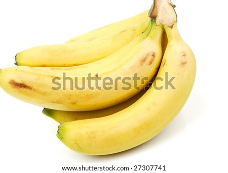 bananas bunch isolated on white background