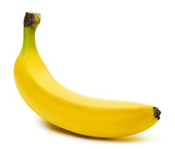 Bananas isolated on white background Clipping Path