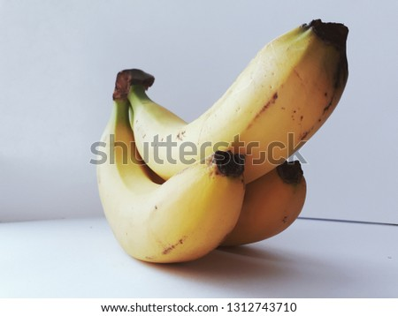 Bananas on white background. Beautiful view    Сток-фото ©