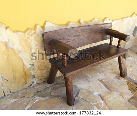 Banco de madeira artesanal varanda com ambiente for Ambiente rustico