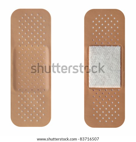 Band aid isolated over a white background