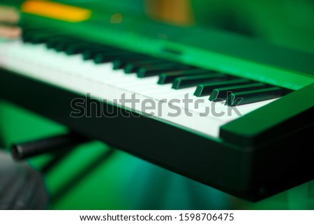 Band instruments. Holidays party background