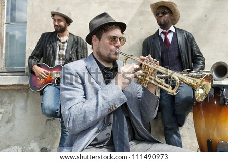 Band of blues musicians