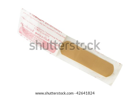 Bandage in package isolated on white