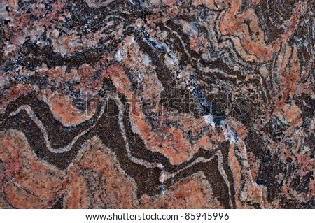 Banded gneiss rock