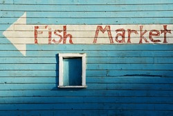 Bandon Oregon Fish Market near Old Town on the Coquille River