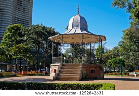 Bandstand on square at Belo Horizonte, Brazil                               #1252842631