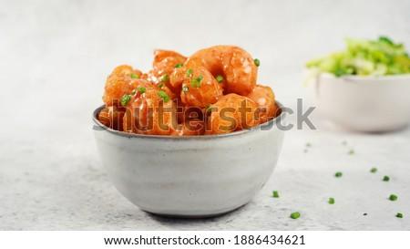 Bang bang Shrimp - batter fried crispy shrimp appetizer, selective focus Stockfoto ©