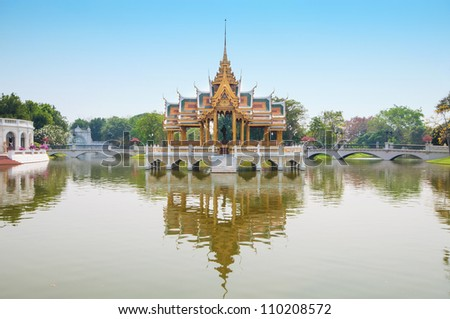 Bang Pa-In acient Palace in Thailand