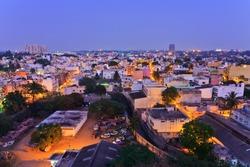 Bangalore city skyline in resident zone, Bangalore, India