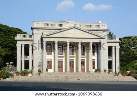 Bangalore Town Hall is a neoclassical municipal building in Bengaluru, India named after Sir K. P. Puttanna Chetty. The building was completed in 1935.