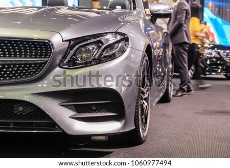 BANGKOK - APRIL 2, 2018 :Car on display at international cars exhibition show at The 39th Bangkok International Motor show on March 2, 2018 in Bangkok, Thailand. #1060977494
