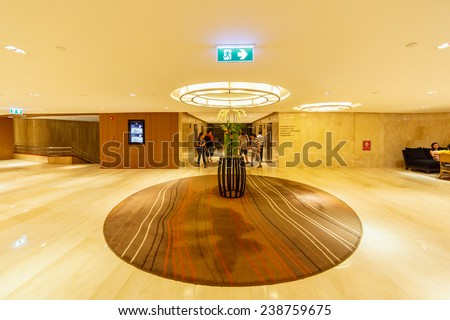BANGKOK - AUG 11: Hall way of Seminar room, Centara Grand Hotel on Aug 11, 2014 in Bangkok. It was first opened in 1982, later managed by the new founded hotel management group, Central Hotel&Resorts.