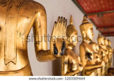 Bangkok Buddha statues in temples. Temples of Thailand #1203309664