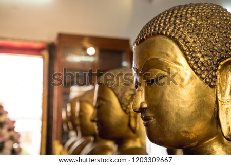 Bangkok Buddha statues in temples. Temples of Thailand #1203309667