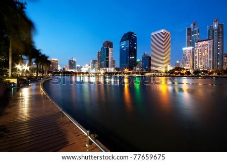 Bangkok City at Night, Thailand