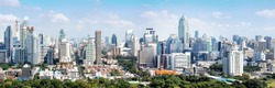 Bangkok city buildings cityscape, high buildings panorama downtown of Bangkok City Thailand