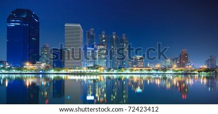Bangkok city downtown at night Bangkok,Thailand