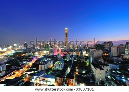 Bangkok City in twilight