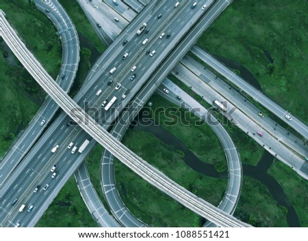 Bangkok Expressway In the morning the traffic is not crowded. - Shutterstock ID 1088551421