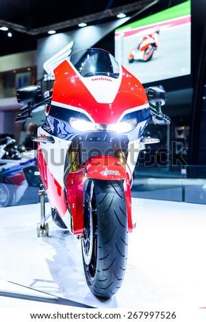 BANGKOK - MARCH 24 : Honda Motorcycle RC213V-S Prototype on display at The 36th Bangkok International Motor Show \