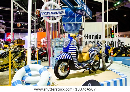 Motor Show 2013 on March 26, 2013 in Bangkok, Thailand. - stock photo