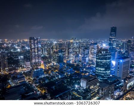 Bangkok Metropolis drone photograph