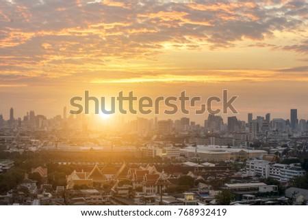Bangkok Metropolis Morning #768932419