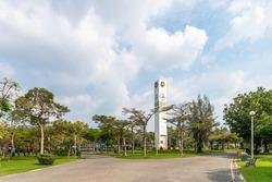 Bangkok -  NOV 3 2021 : Clock Tower in Chatuchak Park
