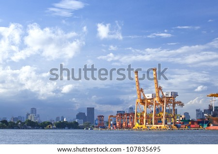 Bangkok Port Terminal for shipping and logistic