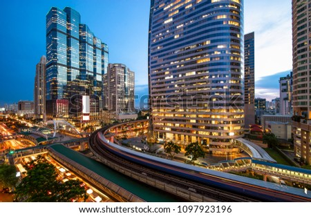 Bangkok skyline at the central business district #1097923196