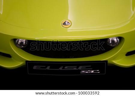 BANGKOK, THAILAND-APRIL 14: Lotus Elise super car on display on Lotus show at Siam Paragon, April 14, 2012 in Bangkok,Thailand