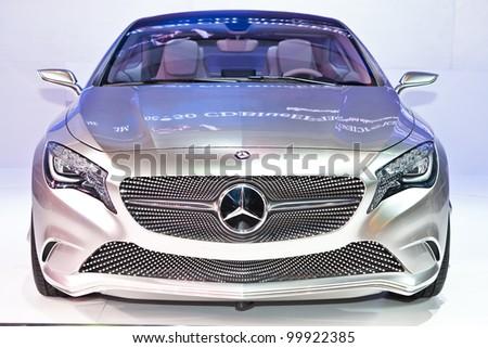 BANGKOK, THAILAND - APRIL 8: The Mercedes-Benz Concept A-class in the 33rd Bangkok International Motor Show on April 8, 2012 in Bangkok, Thailand. - stock photo