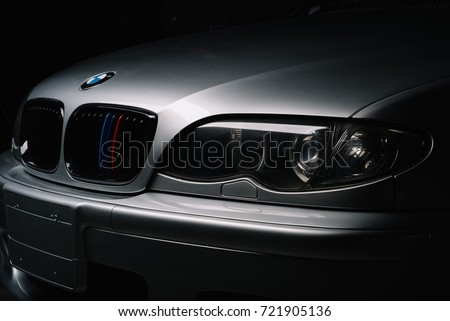 BANGKOK, THAILAND – AUGUST, 11 2017: BMW E46 is the fourth generation of the BMW 3 Series #721905136