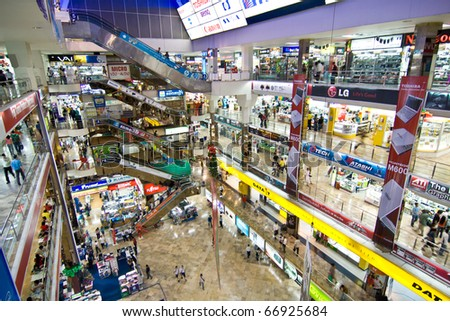 BANGKOK, THAILAND - DECEMBER 27: inside the Pantip Plaza, the biggest electronic and software shopping complex in Thailand to get some christmas bargain on December 27, 2007 in Bangkok, Thailand.