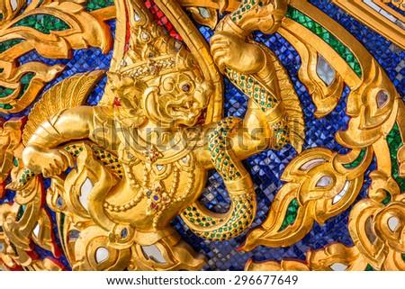 BANGKOK, THAILAND - DECEMBER 17: Thai Royal Barge in Bangkok, Thailand on December 17, 2014. Thai Patterns applied onto Thai royal barges that used in the royal family