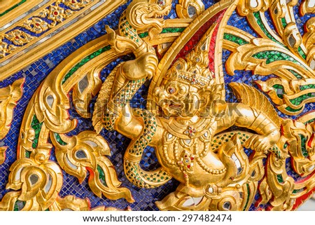 BANGKOK, THAILAND - DECEMBER 17: Thai Royal Barge in Bangkok, Thailand on December 17, 2014. Thai Patterns that applied onto The Thai royal barges which are used in the royal family
