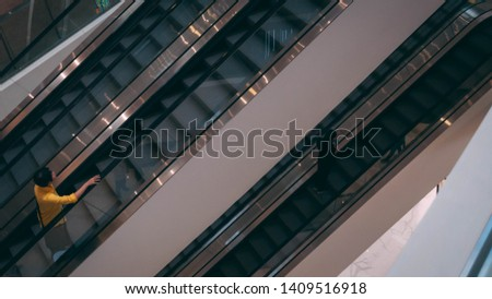 Bangkok, Thailand JANUARY 25,2019 : Escalator Staircase in ICONSIAM Thailand in the afternoon #1409516918