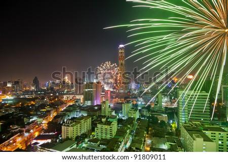 BANGKOK THAILAND - JANUARY 1 : HAPPY NEW YEAR 2012, New year celebrations taking place at Central World Plaza Countdown 2012, central of Bangkok, On January 1,2012 in Bangkok, Thailand.