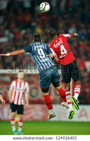BANGKOK,THAILAND-JANUARY 8:Marcelo Antnio Guedes Filho (RED) of PSV in action during The AIA Champions Cup match between SCG Muangthong Utd. and PSV at SCG Stadium on Jan8 ,2012 in ,Thailand.