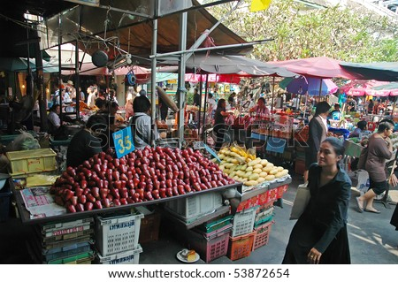 BANGKOK, THAILAND - JANUARY 15: Marketplace in Bangkok city January 15, 2008 in Bangkok, Thailand.