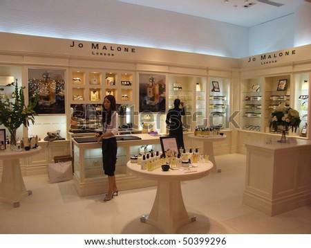 BANGKOK, THAILAND - JANUARY 8: Perfume for sale on display at the Siam Paragon shopping center at the grand opening. January 8 2005, Siam center, Bangkok.